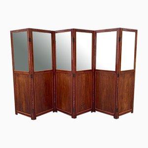 19th Century Mahogany Six Fold Room Divider/Screen