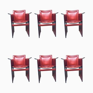 Vintage Solaria Leather Dining Chairs from Arrben, Set of 6
