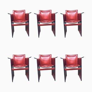 Vintage Solaria Leder Esszimmerstühle von Arrben, 6er Set