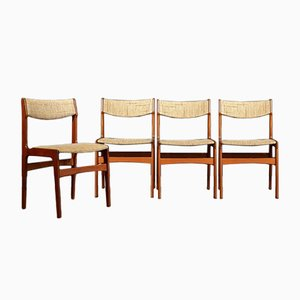 Danish Teak Chairs by Erik Buch, 1960s, Set of 4