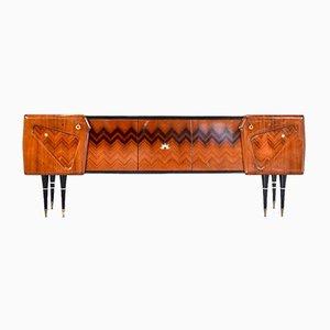 Italian Rosewood & Brass Sideboard, 1960s