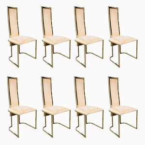 Hollywood Regency Dining Chairs from Belgo Chrom, 1970s, Set of 8