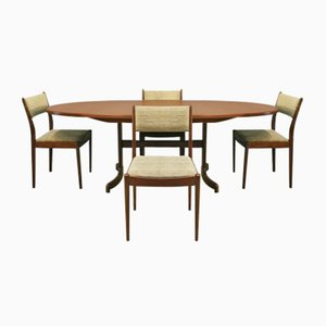 Fresco Dining Table & Chairs Set from G-Plan, 1970s, Set of 5