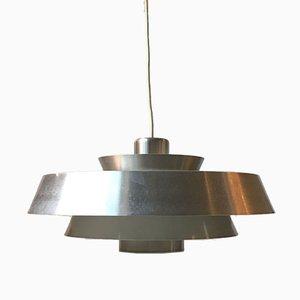 Lampada da soffitto Nova in alluminio di Johannes Hammerborg per Fog & Mørup, anni '60