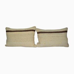 Turkish Organic Lumbar Kilim Cushion Cover