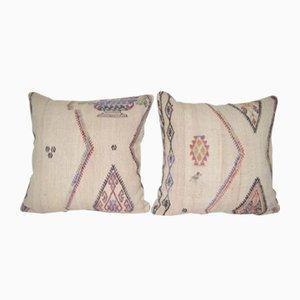Coussins Modern Handwoven Organic en Laine de Vintage Pillow Store Contemporary, Set de 2