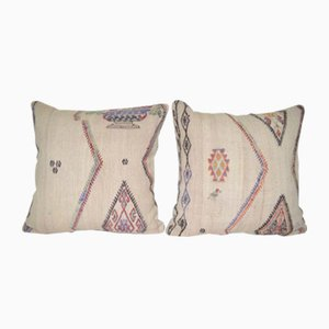 Handwoven Modern Organic Wool Throw Pillows from Vintage Pillow Store Contemporary, Set of 2