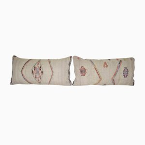 Goat Hair Kilim Cushion Covers, Set of 2