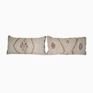 Goat Hair Kilim Cushion Covers, Set of 2