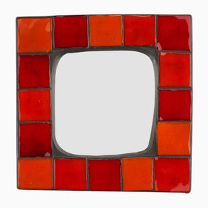 Ceramic Wall Mirror from Mithé Espelt, 1960s