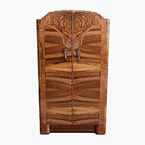Art Deco Walnuss Furnier Kleiderschrank, 1920er