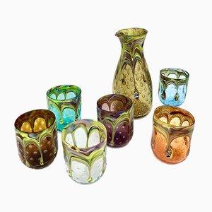 Italienische Vintage Murano Wassergläser von Mar'yana Iskra für Ribes, 2004, 6er Set