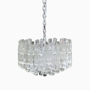 Mid-Century Lucite Ice Chandelier in the style of J.T Kalmar, 1970s