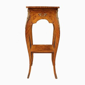 French Side Table With Inlaid Rosewood, Mahogany, Maple and Fruitwood