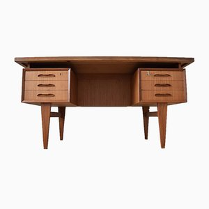 Mid-Century Danish Teak Executive Desk, 1960s