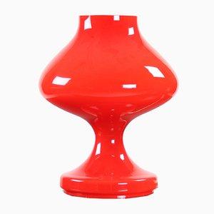 Rote Opalglas Tischlampe von Tabery für OPP Jihlava, 1960er