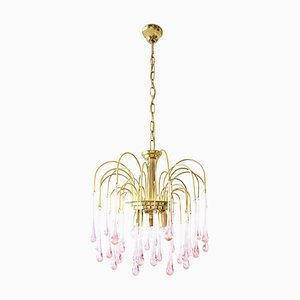 Vintage Waterfall Chandelier in Glass and Metal, 1960s