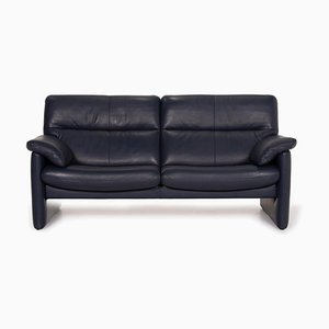 Blue Leather 3-Seater Sofa from Erpo