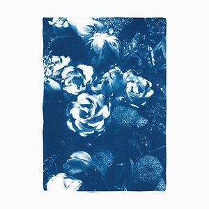 Bouquet de fleurs bleues, 2020, cyanotype