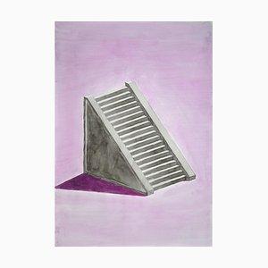 Lilac Mayan Staircase, 2020, Watercolor
