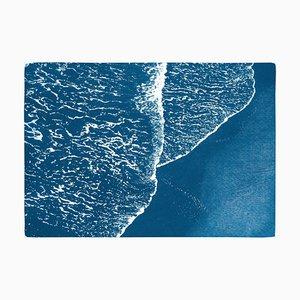 Pacific Foamy Shorelines, 2020, Cyanotypie
