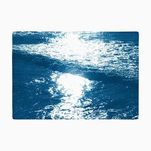Pacific Sunset Waves, 2020, Cyanotypie