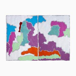 Farbpastelllandschaft, 2020, Aquarellpapier