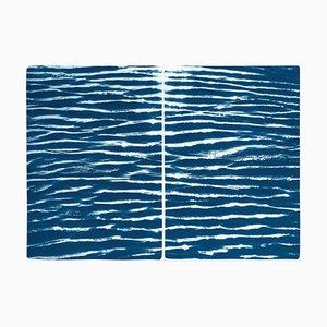 Patrones de agua tranquilos, 2020, cianotipo