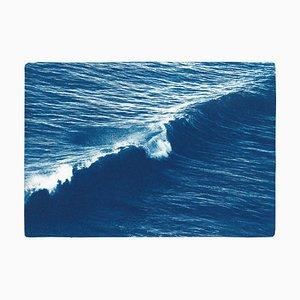 Long Wave in Venice Beach, 2019, Cyanotype