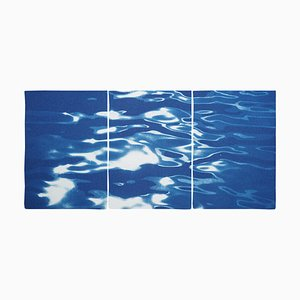 Lido Island Reflections, 2020, Minimal Cyanotype Print
