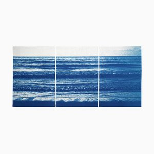 Pacific Beach Horizon, 2020, Cyanotype
