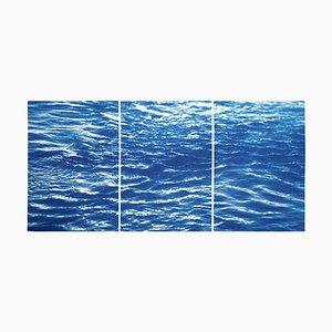 Colorado Triptychon des Erfrischenden Flusses Flow, 2020, Cyanotypie, 3er Set