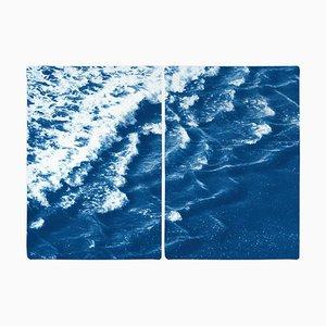 Rollende Wellen von Sidney, 2020, Cyanotypie