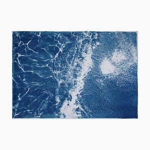 Karibisches sandiges Ufer, Cyanotypie auf Aquarellpapier, 2019