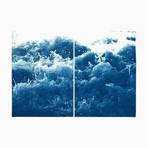 Tempestuous Tidal in Blau, Cyanotypie Druck, 2020