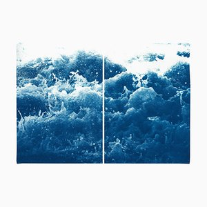 Tempestuous Tidal in Blue, Cyanotype Print, 2020