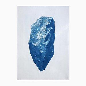 Scultura minerale, ciano, 2019