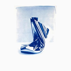 Klarer Kunststoff Nr. 1, Cyanotypie auf Aquarellpapier, 2019