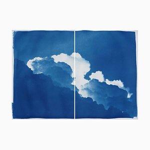 Yves Klein Clouds, Cyanotypie auf Aquarellpapier, 2019