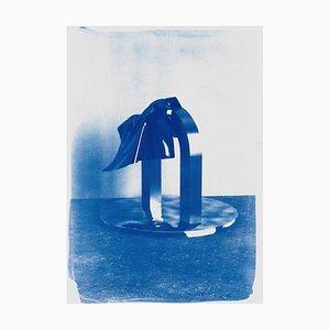 Klares Plastik Nr. 2, Cyanotypie auf Aquarellpapier, 2019