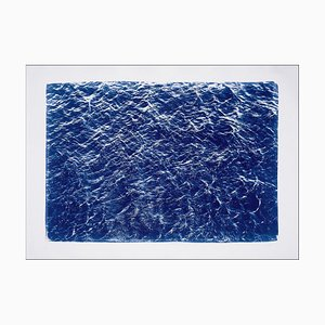 Pacific Ocean Currents, Cyanotype on Watercolor, 2019