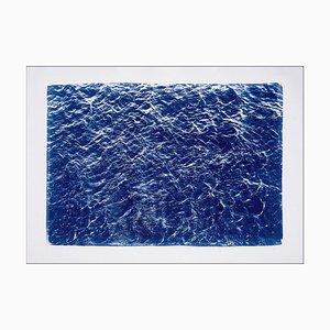 Pazifische Strömungen, Cyanotypie auf Aquarell, 2019