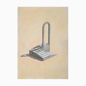 Bogen mit Treppen, Aquarell, 2020