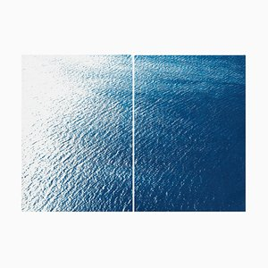 Smooth Bay in the Mediterranean, Classic Blue Diptych, 2019