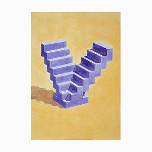 Ryan Rivadeneyra, Double Escalier, Aquarelle, 2020
