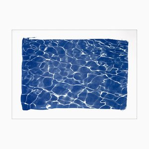 Lampada da piscina Hollywood Glow, Cyanotype acquarello, 2019