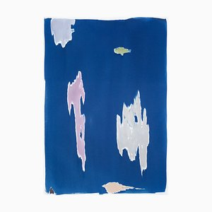 Clifford Still Inspired Cyanotype on Paper, 2020