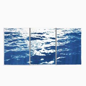 Summer Waters, Cyanotypie in klassischem Blau, 2019