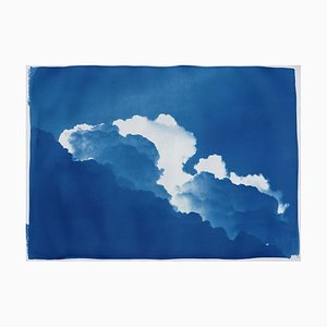 Cyanotipo Yves Klein Clouds Sky Landscape en formato de papel, 2019