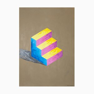 Escultura Sol Lewitt Inspiration Staircase Primary Color Naif Architecture, 2020
